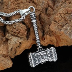 Collier Viking Marteau Forgé