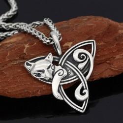 Collier Viking Triquetra du Renard