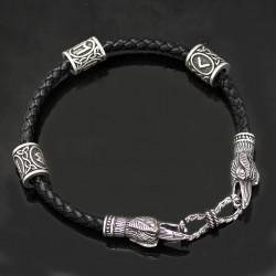Bracelet Viking Corbeau