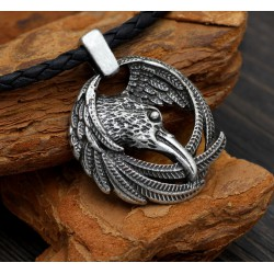 Collier Viking Corbeau