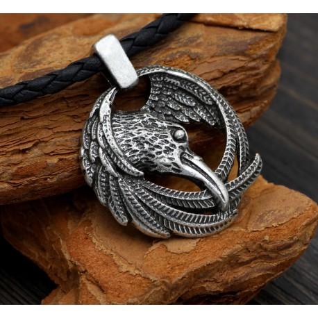 Collier Viking Corbeau