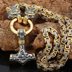 Collier Marteau de Thor & Geri Freki
