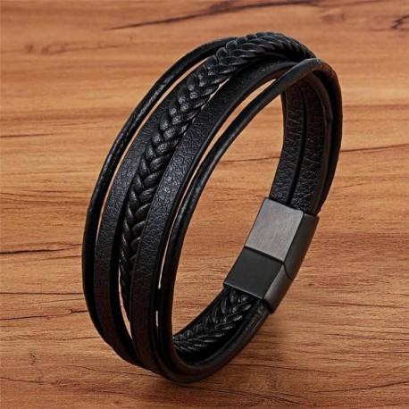 Bracelet Viking en Cuir