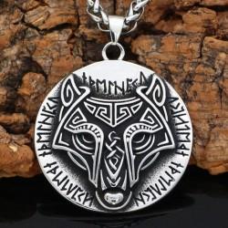 Collier Loup et Runes