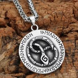 Collier Viking Serpent | Collier Serpent Jormungand