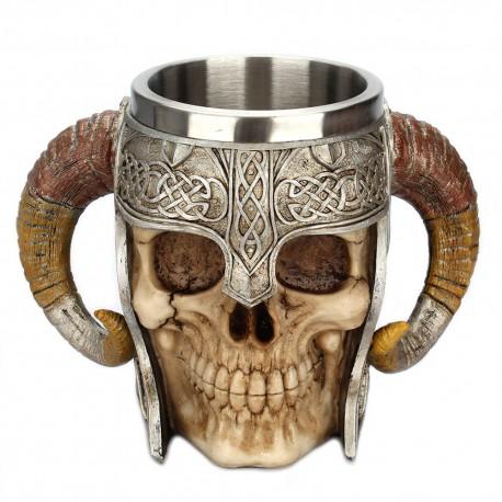chope biere viking | chope crane viking | mug corne de bouc