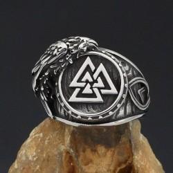 "Bague Viking ""Oiseau d'Odin"""