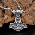 Collier Viking Corbeaux d'Odin & Marteau de Thor