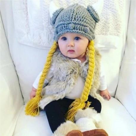 Bonnet viking fille