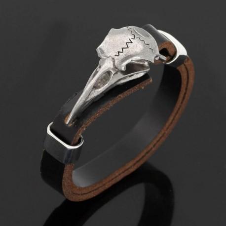 Bracelet homme corbeau