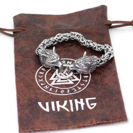 Bracelet Loup Viking